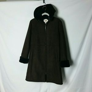 Brown Talbots coat size Medium